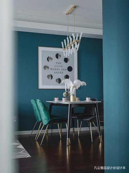 混搭绿色风餐厅设计图厨房1图