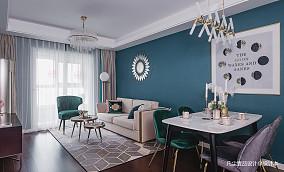明亮89平混搭三居客厅布置图客厅1图潮流混搭设计图片赏析