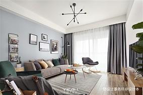 精选大小97平北欧三居客厅装修欣赏图片