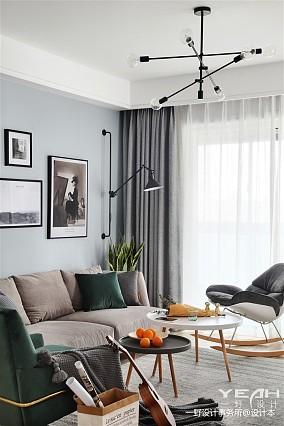 热门90平方三居客厅北欧装修图片大全