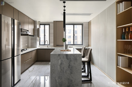 精美106平米三居厨房混搭装修图片