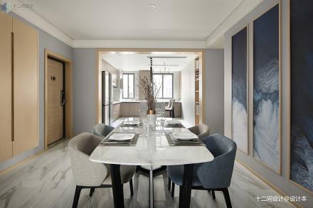 大小105平混搭三居餐厅装修实景图片