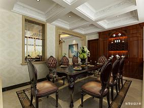 热门100平米三居餐厅欧式装修图片