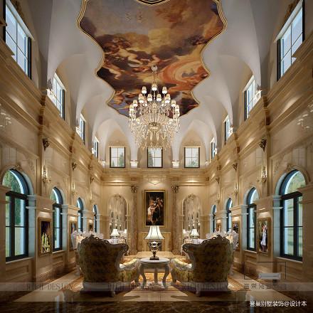 精选132平米新古典别墅客厅欣赏图片大全