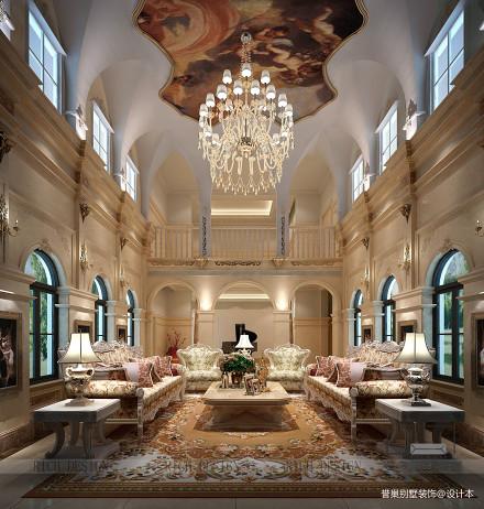 2018别墅客厅新古典装饰图片151-200m²别墅豪宅美式经典家装装修案例效果图