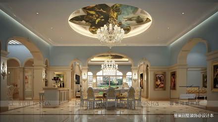 精选新古典别墅餐厅装修欣赏图