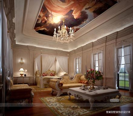 面积137平别墅卧室新古典装修效果图片欣赏