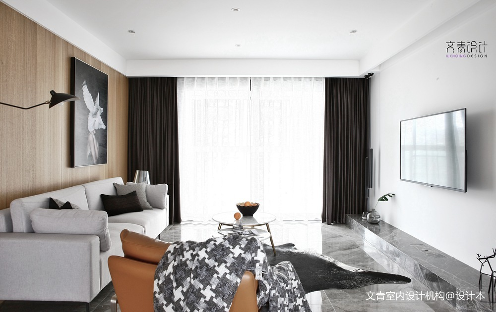 《朋友》丨碰撞渐进融洽,设计终成知己现代简约140㎡客厅现代简约客厅设计图片赏析