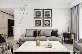优雅133平美式三居客厅实景图三居美式经典家装装修案例效果图