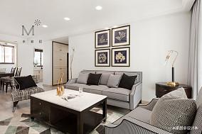 优雅83平美式三居实拍图三居美式经典家装装修案例效果图