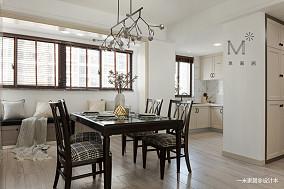 优美99平美式三居餐厅装饰图三居美式经典家装装修案例效果图