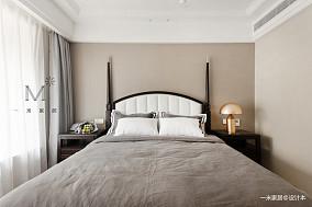 优美129平美式三居卧室设计美图三居美式经典家装装修案例效果图