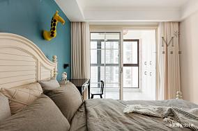 明亮101平美式三居客厅案例图家装装修案例效果图
