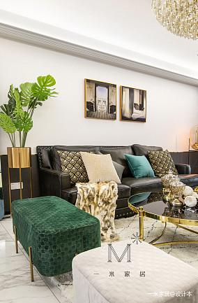 悠雅118平美式三居客厅图片欣赏三居美式经典家装装修案例效果图