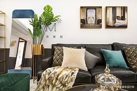温馨140平美式三居装修设计图三居美式经典家装装修案例效果图