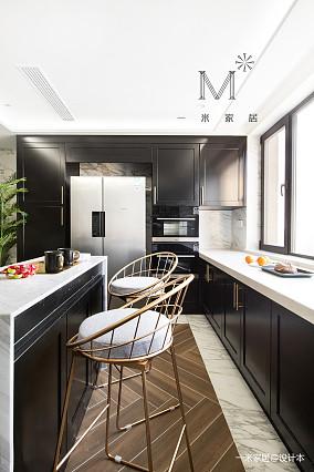 大气83平美式三居装修设计图三居美式经典家装装修案例效果图