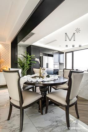明亮107平美式三居餐厅设计美图三居美式经典家装装修案例效果图