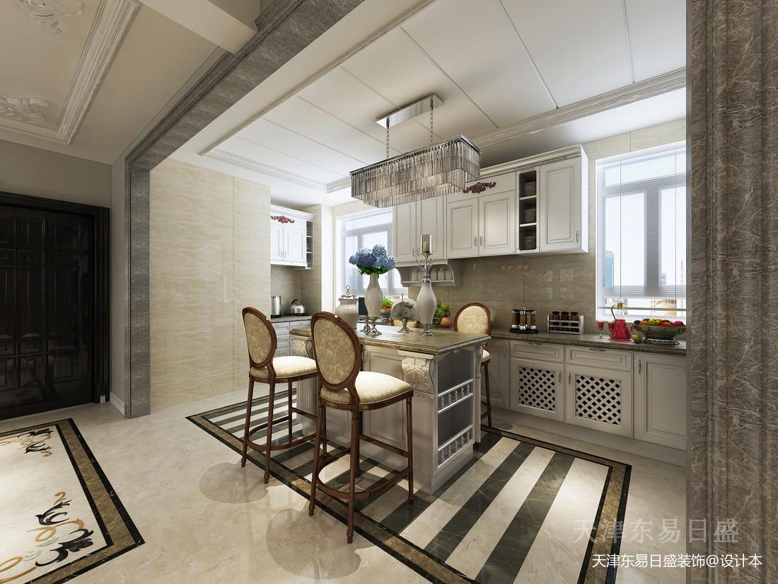 2018精选114平米简欧别墅厨房装修效果图片大全设计图片赏析