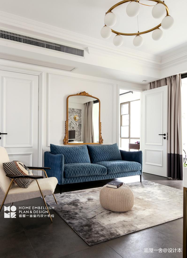 轻奢81平混搭三居客厅装饰图客厅