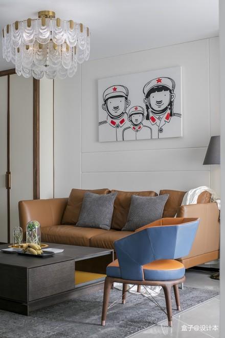 精选74平方二居客厅混搭效果图片欣赏二居潮流混搭家装装修案例效果图