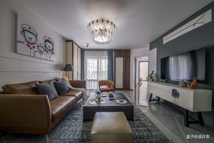 精选84平方二居客厅混搭装修效果图片欣赏