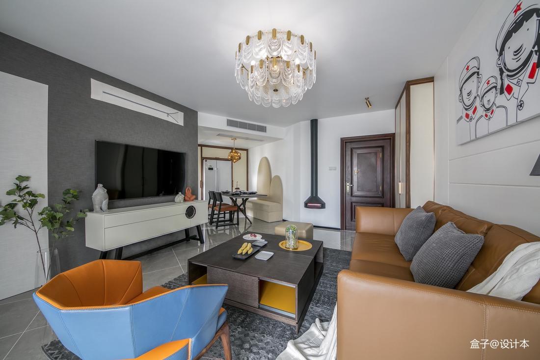 2018大小88平混搭二居客厅效果图客厅潮流混搭客厅设计图片赏析