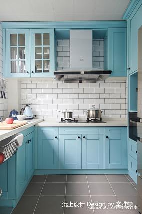 平米三居厨房美式装修效果图餐厅美式经典设计图片赏析
