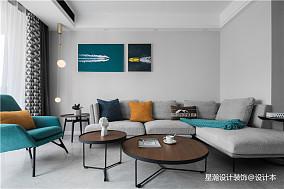 精美面积76平简约二居客厅装修实景图