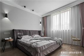 2018精选面积85平简约二居卧室装修实景图片