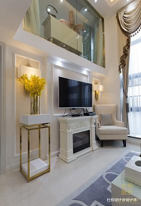 面积76平简欧二居客厅效果图家装装修案例效果图