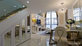面积77平简欧二居餐厅装修设计效果图家装装修案例效果图