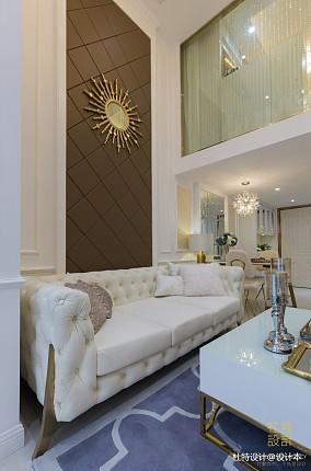 明亮60平简欧二居客厅设计案例二居北欧极简家装装修案例效果图