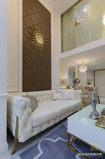 明亮60平简欧二居客厅设计案例