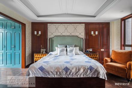 热门128平米混搭别墅卧室欣赏图卧室