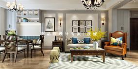 精选面积100平美式三居客厅实景图片大全