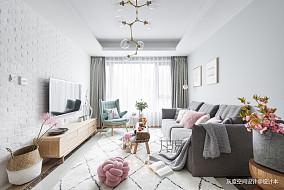热门99平方三居客厅北欧装修图片欣赏