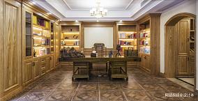 精选123平米美式别墅书房欣赏图