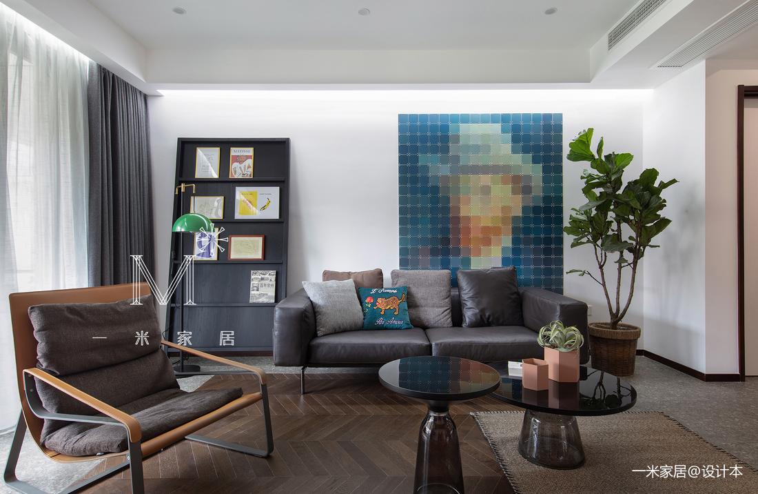质朴190平现代别墅客厅实景图片别墅豪宅现代简约家装装修案例效果图