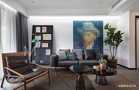 质朴190平现代别墅客厅实景图片