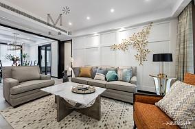 华丽79平美式三居客厅实拍图三居美式经典家装装修案例效果图