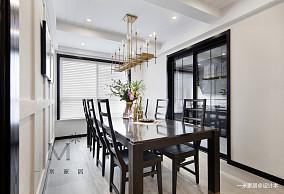 悠雅111平美式三居装修效果图三居美式经典家装装修案例效果图