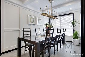 优雅116平美式三居客厅案例图三居美式经典家装装修案例效果图