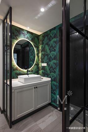 温馨94平美式三居设计案例三居美式经典家装装修案例效果图