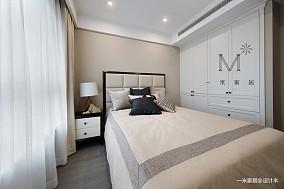温馨114平美式三居设计案例三居美式经典家装装修案例效果图
