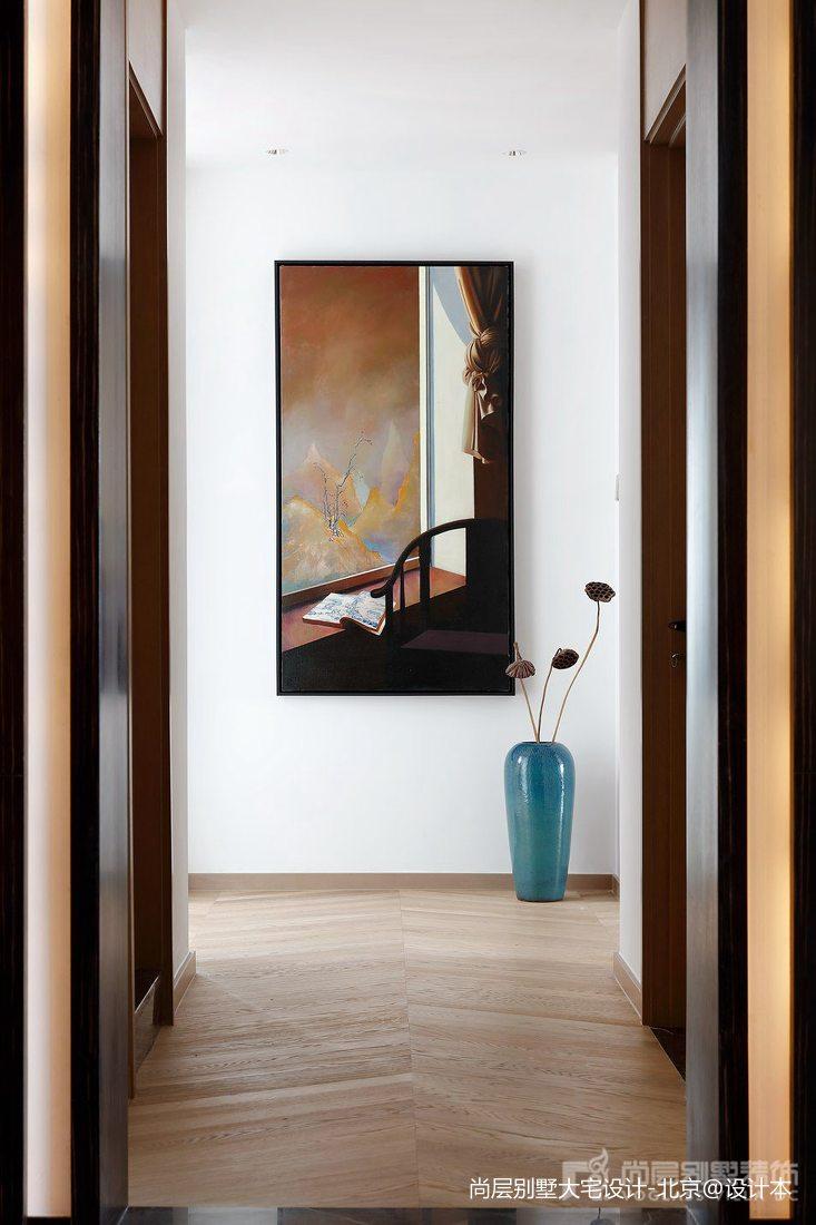 热门110平米中式别墅过道效果图片欣赏玄关中式现代玄关设计图片赏析