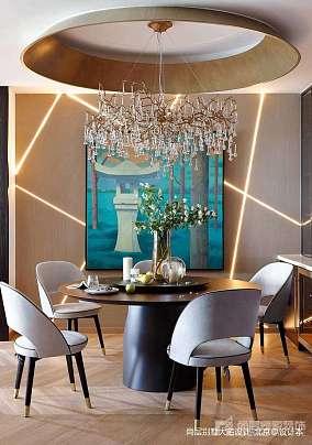 温馨301平中式别墅餐厅设计美图别墅豪宅中式现代家装装修案例效果图
