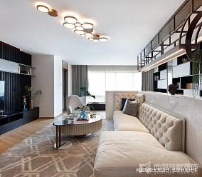 热门面积135平别墅客厅中式装修图别墅豪宅中式现代家装装修案例效果图