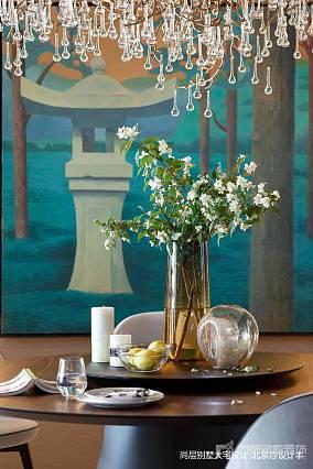 温馨812平中式别墅餐厅实拍图别墅豪宅中式现代家装装修案例效果图