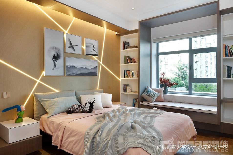 精选别墅儿童房中式实景图片欣赏卧室中式现代卧室设计图片赏析
