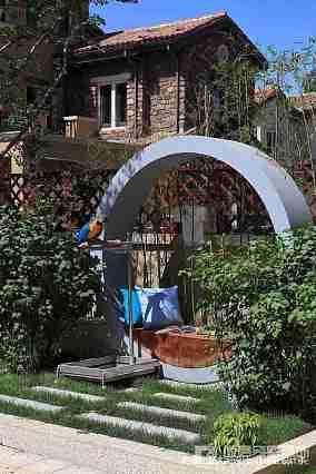 精美面积126平别墅花园中式效果图片大全别墅豪宅中式现代家装装修案例效果图